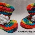 0 to 3 months Baby Crocheted Rainbo..