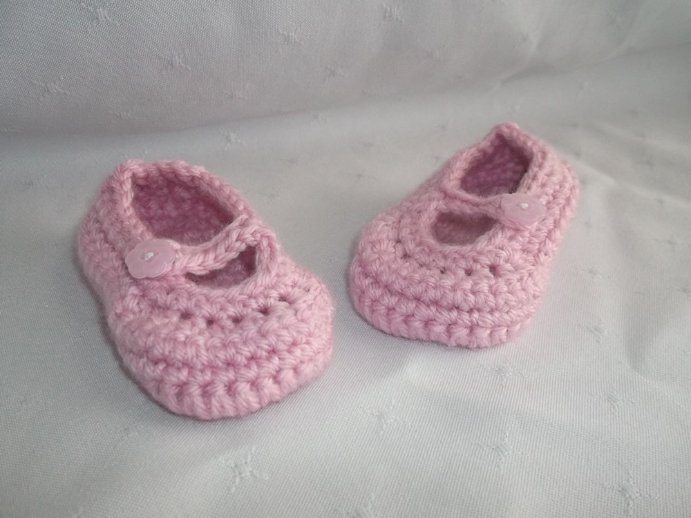 Newborn Baby Pink Mary Jane Shoes