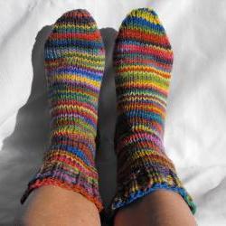 Rainbow Custom Size Womens Sock Socks sizes 7 8 9 10 11 12 shoe