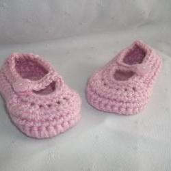 Newborn Baby Pink Mary Jane Shoes