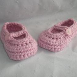 0 to 3 months Baby Pink Mary Jane Shoes